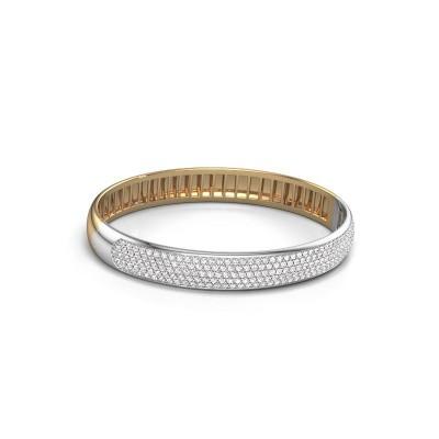 Foto van Slavenarmband Emely 9mm 585 goud lab-grown diamant 3.018 crt