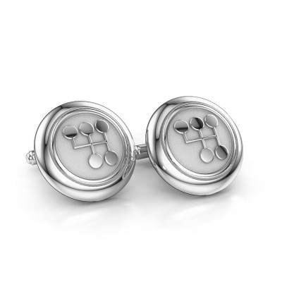 Picture of Cufflinks Wannes 585 white gold