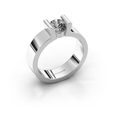 Verlovingsring Sofie 1 925 zilver diamant 0.50 crt