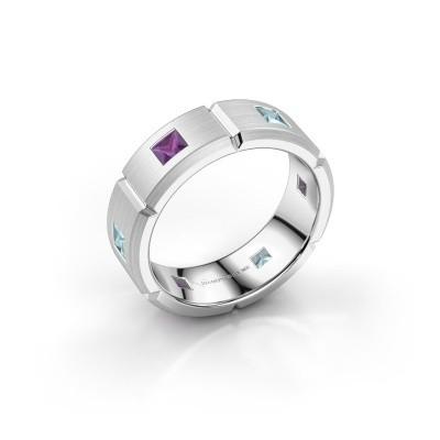 Foto van Heren ring Steve 925 zilver amethist 3 mm