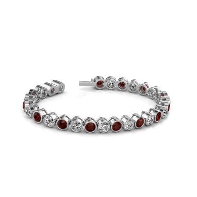 Tennis bracelet Allegra 5 mm 585 white gold garnet 5 mm