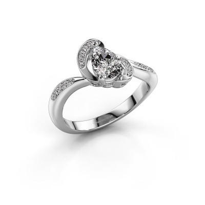 Foto van Ring Jonelle 585 witgoud diamant 0.748 crt