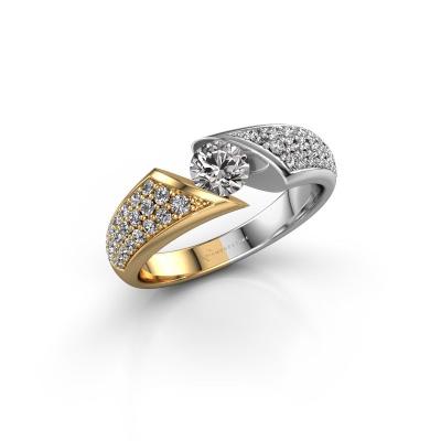 Foto van Ring Hojalien 3 585 goud diamant 0.848 crt