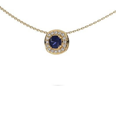 Picture of Necklace Carolina 585 gold sapphire 5 mm