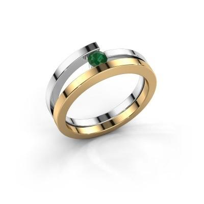 Ring Sandy 585 goud smaragd 3.4 mm