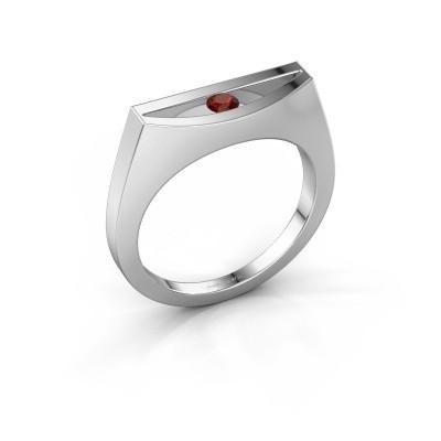 Ring Milou 925 Silber Granat 3 mm