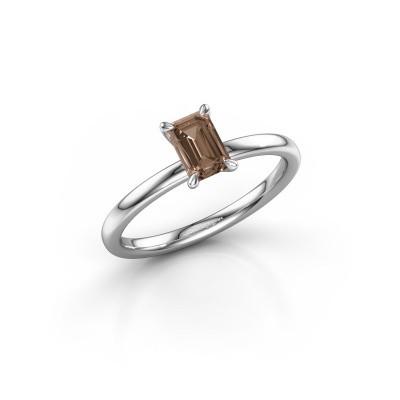 Foto van Verlovingsring Crystal EME 1 925 zilver bruine diamant 0.70 crt