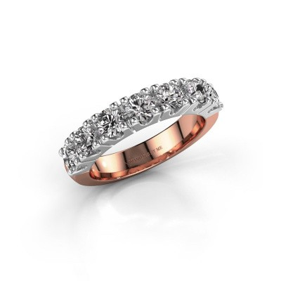 Foto van Belofte ring Rianne 7 585 rosé goud diamant 1.40 crt