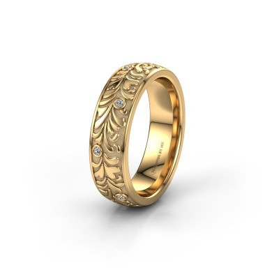 Trouwring WH2074L26D 585 goud diamant ±6x2.4 mm