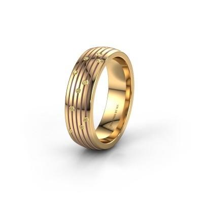 Trouwring WH0150L26A 585 goud gele saffier ±6x1.7 mm