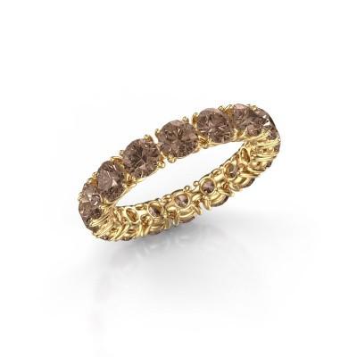 Foto van Aanschuifring Vivienne 4.0 375 goud bruine diamant 4.00 crt