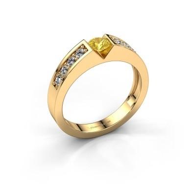 Foto van Verlovingsring Lizzy 2 375 goud gele saffier 4.2 mm