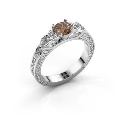 Verlovingsring Gillian 925 zilver bruine diamant 0.52 crt