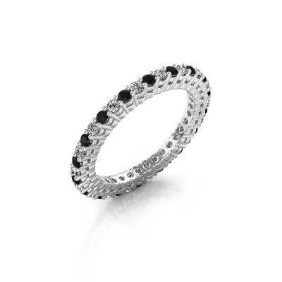 Photo de Bague superposable Rufina 2 585 or blanc diamant 0.792 crt