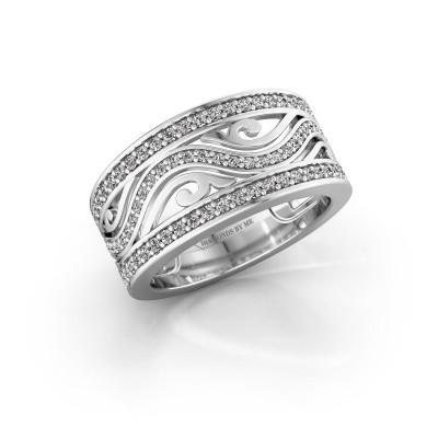 Ring Louvenia 950 platina zirkonia 1.2 mm