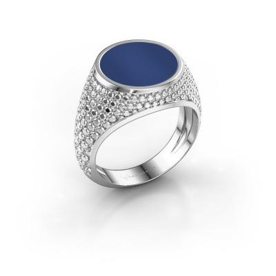 Foto van Zegelring Zachary 2 925 zilver lapis lazuli 12 mm