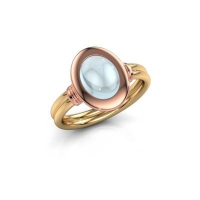 Foto van Ring Brittni 585 goud aquamarijn 9x7 mm