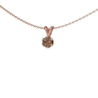 Foto van Ketting Julia 375 rosé goud bruine diamant 0.50 crt