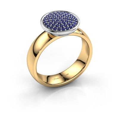 Ring Tilda 585 goud saffier 1 mm