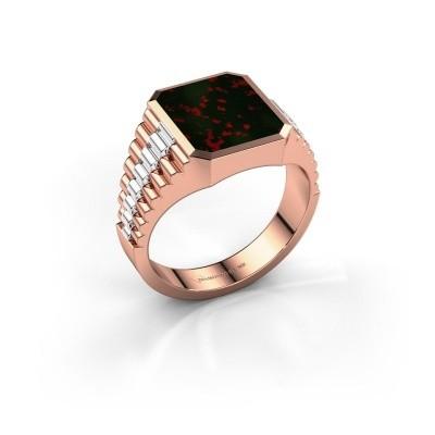 Foto van Rolex stijl ring Brent 2 585 rosé goud heliotroop 12x10 mm