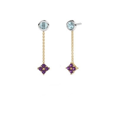 Picture of Drop earrings Ardith 585 gold amethyst 2 mm