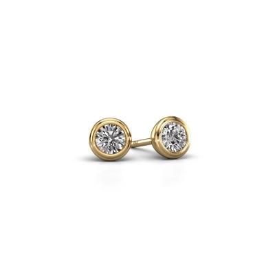 Foto van Oorstekers Shemika 585 goud diamant 0.25 crt