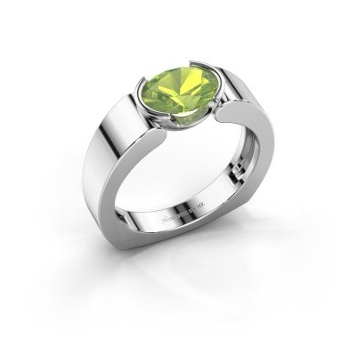 Ring Tonya 950 platina peridoot 8x6 mm