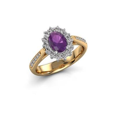 Engagement ring Margien 2 585 gold amethyst 7x5 mm