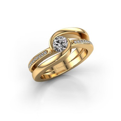 Photo de Bague Xenia 2 585 or jaune diamant 0.60 crt