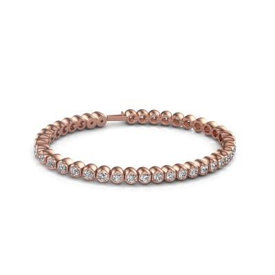 Foto van Tennisarmband Mellisa 375 rosé goud diamant 7.200 crt