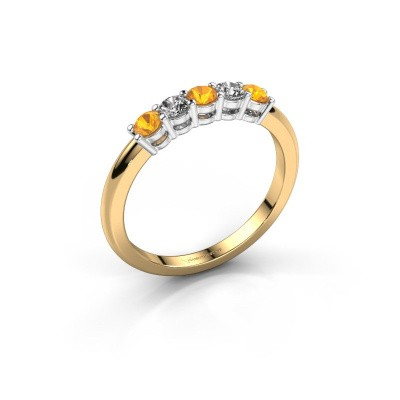 Picture of Promise ring Michelle 5 585 gold citrin 2.7 mm