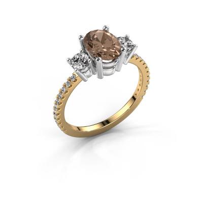 Verlobungsring Emelda 585 Gold Braun Diamant 1.615 crt