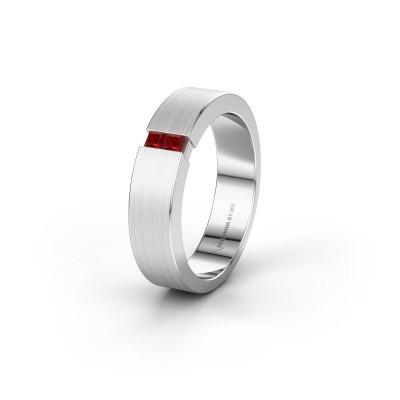 Wedding ring WH2136L15E 925 silver ruby ±5x2.6 mm