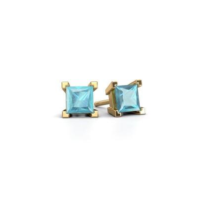 Foto van Oorknopjes Ariane 585 goud blauw topaas 5 mm