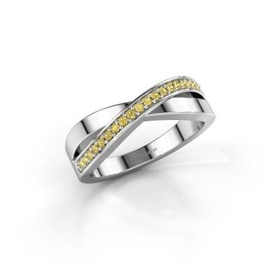 Foto van Ring Kaley 925 zilver gele saffier 1.2 mm