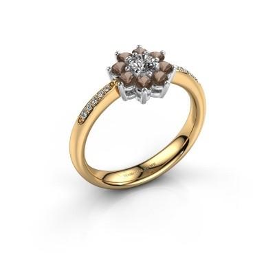 Verlovingsring Camille 2 585 goud rookkwarts 3.4 mm