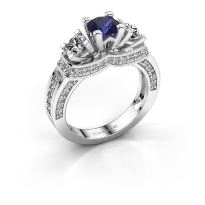 Picture of Engagement ring Phileine 585 white gold sapphire 5 mm