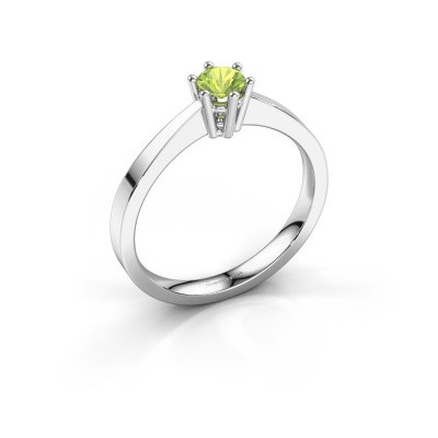 Engagement ring Noortje 925 silver peridot 4 mm