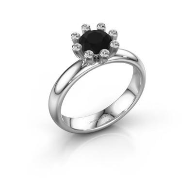 Stapelring Carola 3 950 platina zwarte diamant 1.00 crt