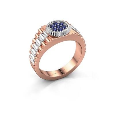 Foto van Heren ring Nout 585 rosé goud saffier 2 mm