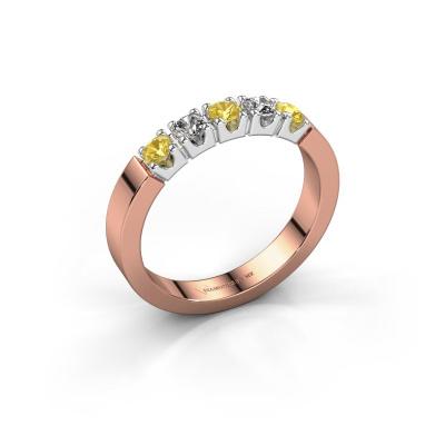 Engagement ring Dana 5 585 rose gold yellow sapphire 3 mm