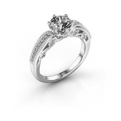 Foto van Verlovingsring Christeen 925 zilver diamant 1.23 crt