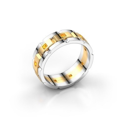 Picture of Men's ring Ricardo 585 gold citrin 2 mm