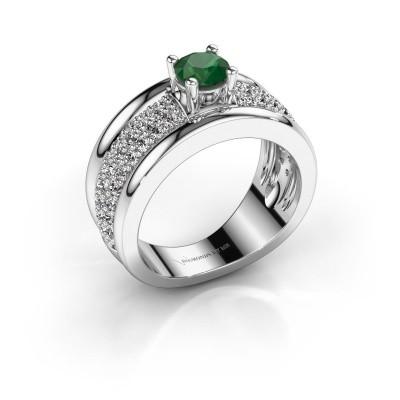Foto van Ring Alicia 950 platina smaragd 5 mm