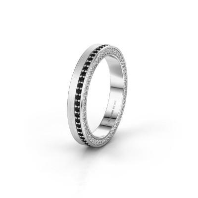 Wedding ring WH2214L15BM 925 silver black diamond 0.605 crt ±5x2 mm