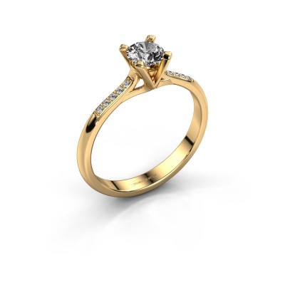 Picture of Engagement ring Isa 2 375 gold diamond 0.40 crt