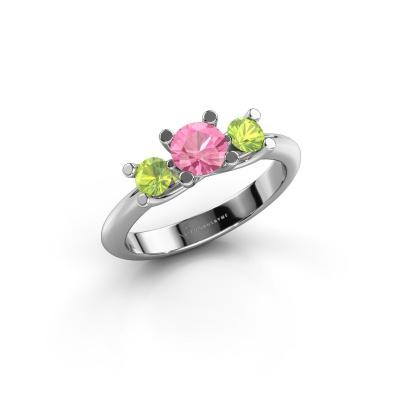 Ring Mirthe 950 platinum pink sapphire 5 mm