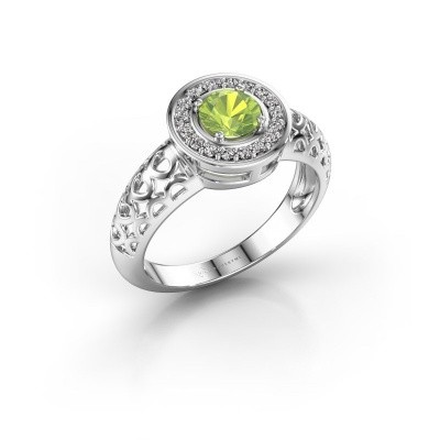 Picture of Ring Katalina 925 silver peridot 5 mm