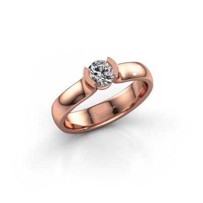 Engagement ring Ophelia 375 rose gold diamond 0.40 crt