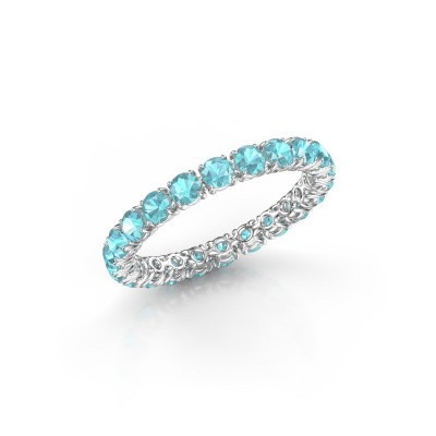 Picture of Ring Vivienne 2.7 585 white gold blue topaz 2.7 mm